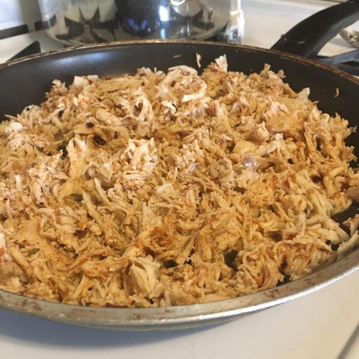 Fajita meat simmering