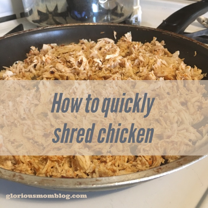 how  to quickly shred chicken