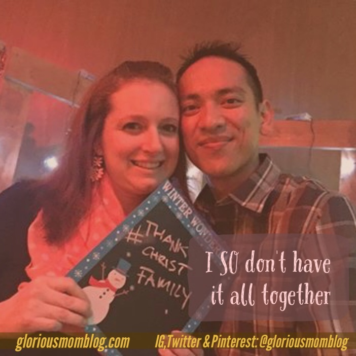 I SO dont have it all together: debunking the myth that some people are perfect. Check it out at gloriousmomblog.com.