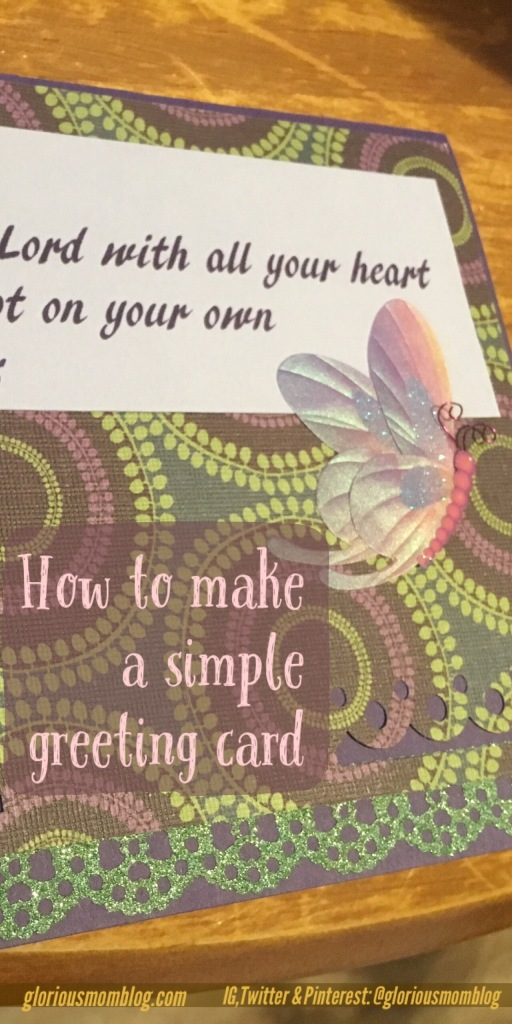 How to make a simple greeting card: visit the blog to learn how to make a beautiful custom card in ten easy steps!